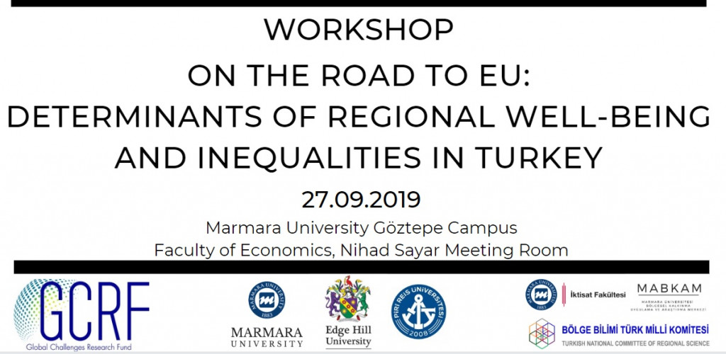 Workshop - On the Road to EU: Determinants of Regional Well-being and Inequalities in Turkey